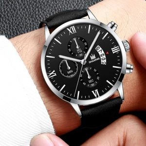 Black and Silver Stainless Steel Watch